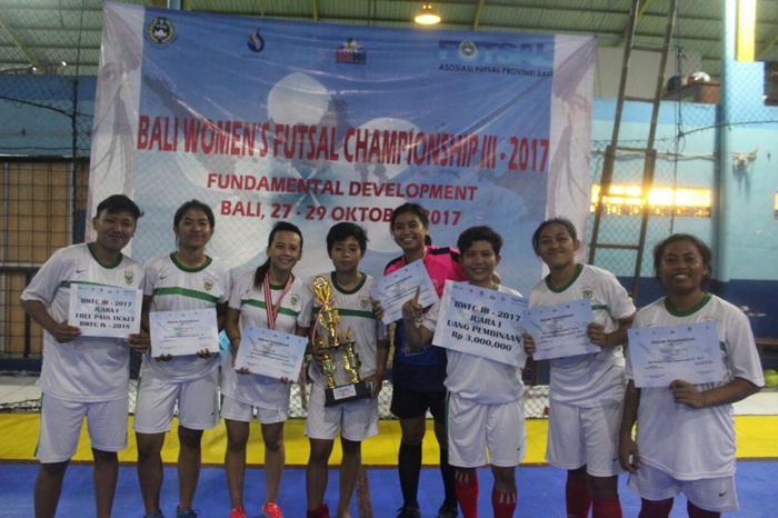 Tim Futsal Putri KWB Sabet 2 Piala Internasional Bali Women Futsal Champions