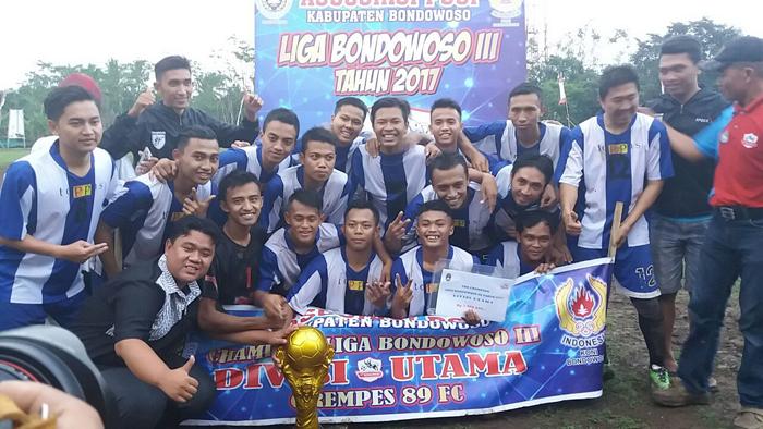 Liga III Bondowoso 2017, Asosiasi PSSI Bondowoso Cetak Juara Baru Divisi Utama