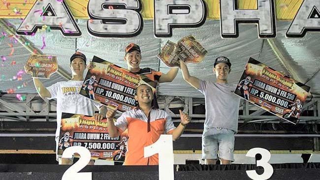 Doni Tata Kukuhkan Diri Juara Umum Trial Game Asphalt 2017