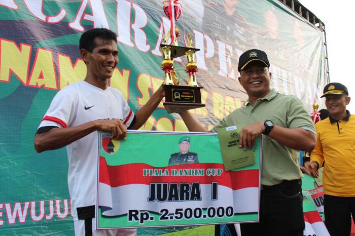 Dandim Cup  2017  Resmi Ditutup, Bentuk TNI Peduli Sepak Bola