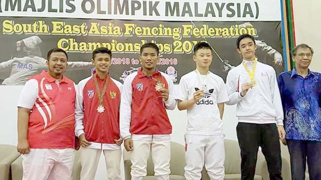 Atlet Anggar Situbondo, Raih Medali Perunggu di SEAFF Championship Malaysia