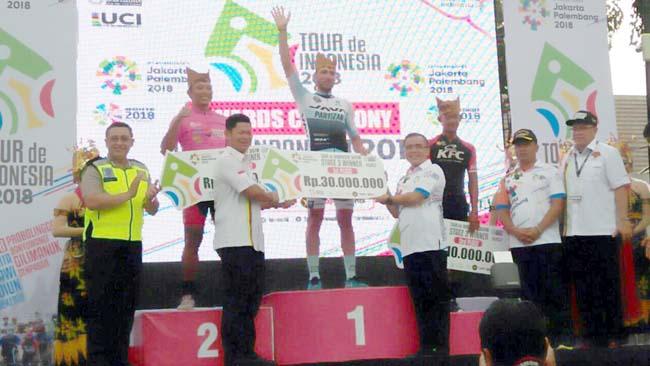 Pembalap Yunani Kuasai Etape 3 Tour de Indonesia
