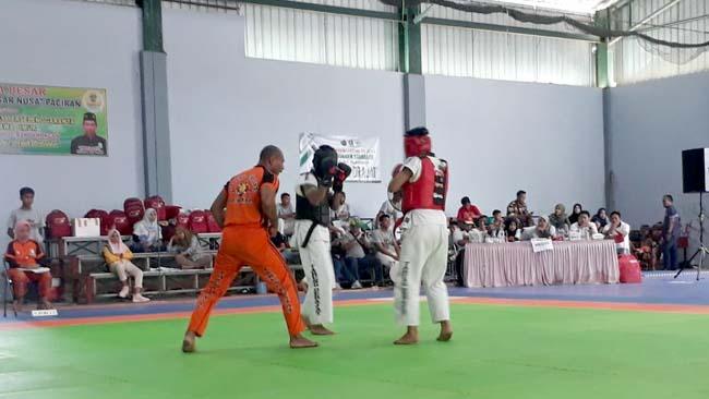 Ilham Bimo saat bertanding. (gie)