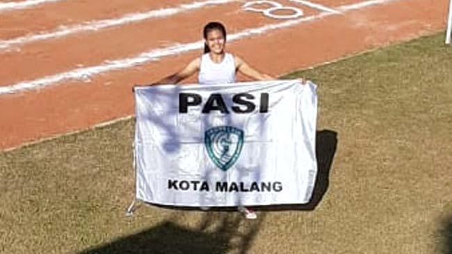 Maudi Awanda torehkan medali emas untuk Kota Malang. (Ist)