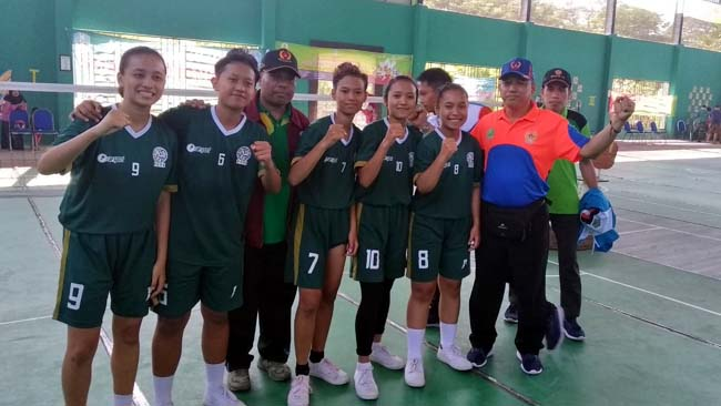 Tim takraw putri Kota Malang. (ist)