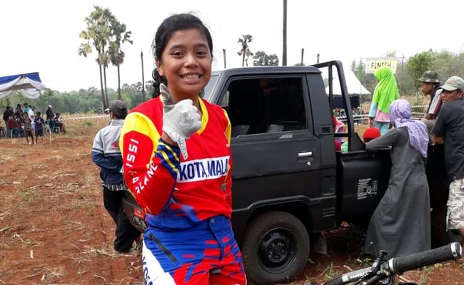 Persembahkan medali Emas, Nilna membawa harum Kota Malang. (Ist)